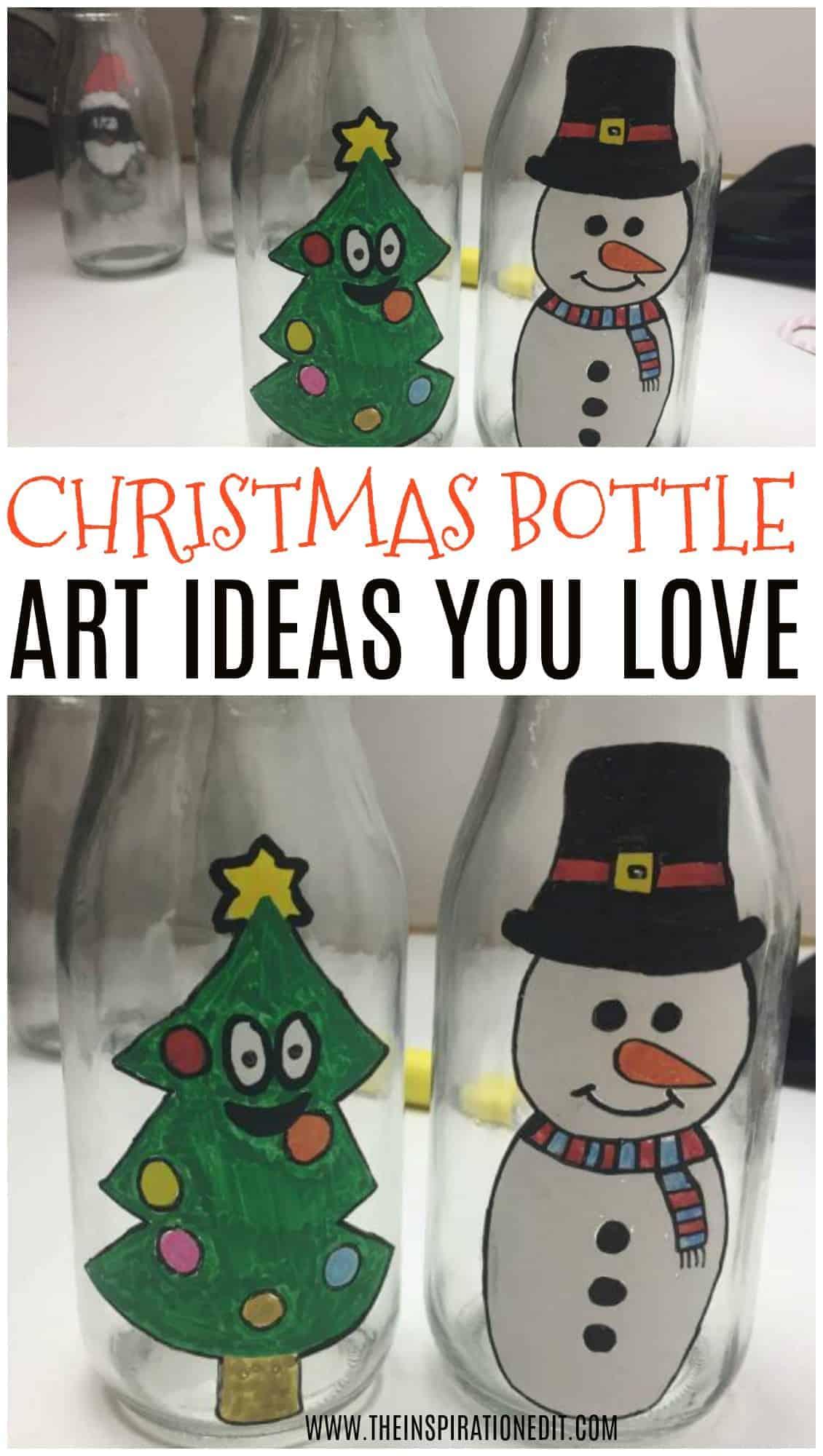 CHRISTMAS BOTTLE ART