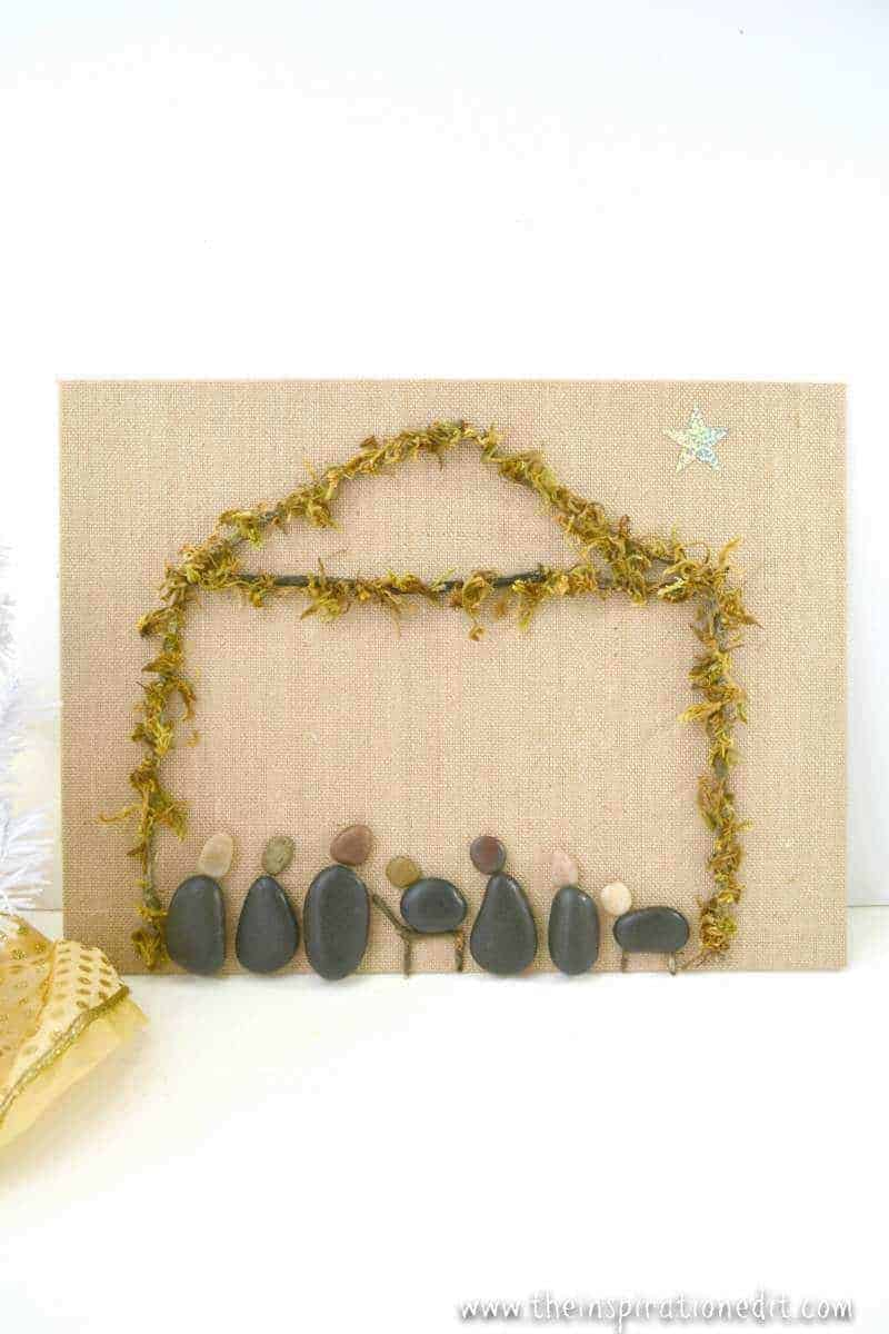 Nativity Craft How To Make A Nativity With Stones