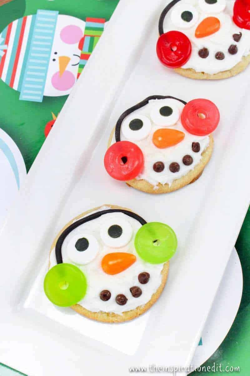 snowman cookies christmas party food idea