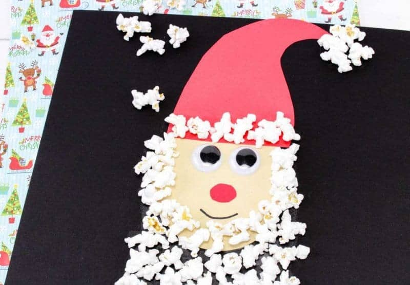 Popcorn Santa Craft for Kids