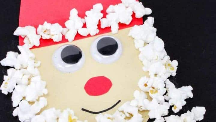 Santa Claus Popcorn craft