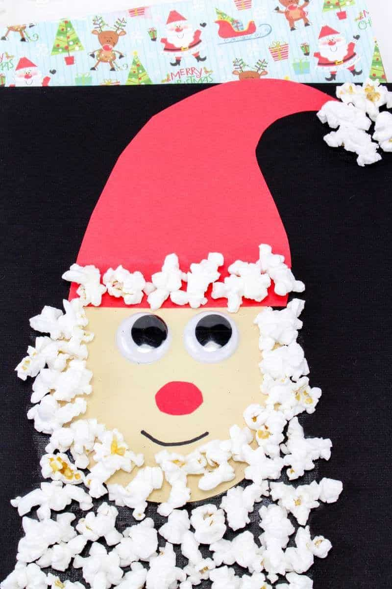 Popcorn Santa Craft for Kids