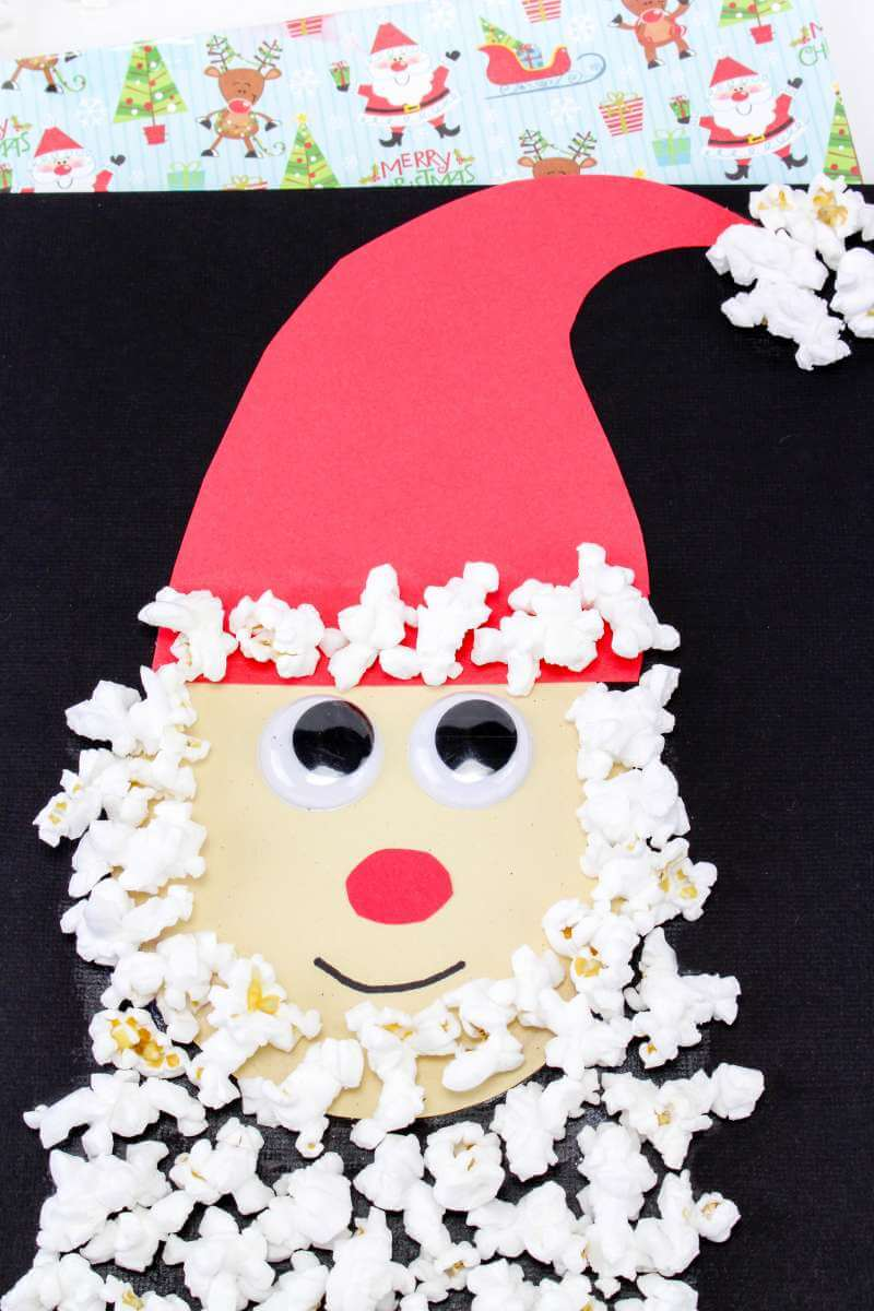 Santa Claus Popcorn craft