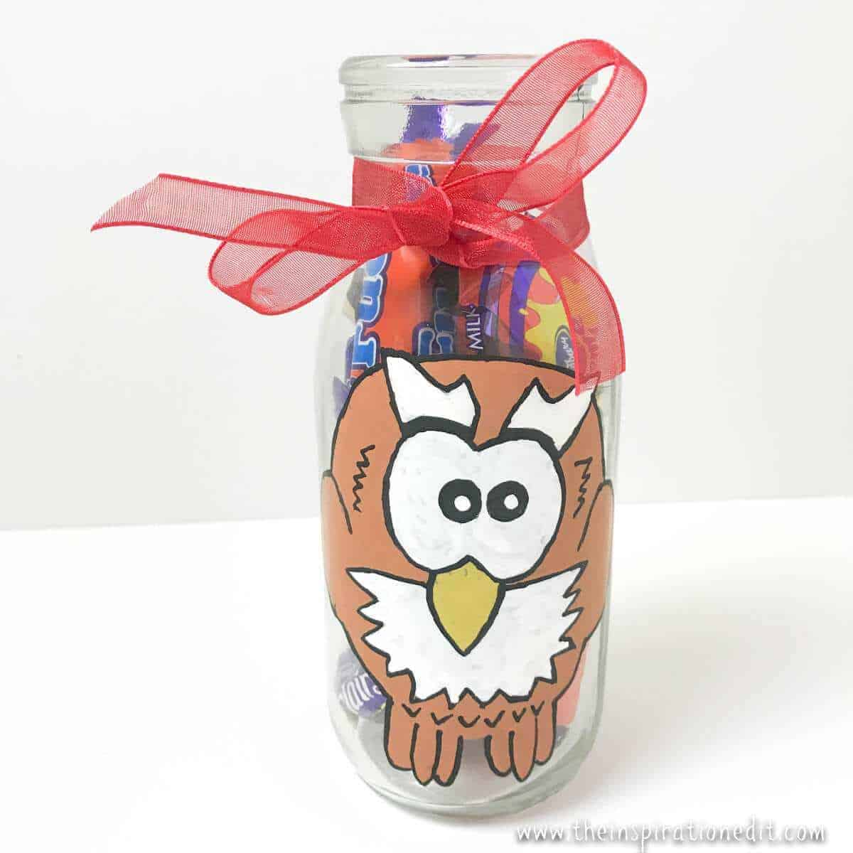 Owl Milk Bottle Craft