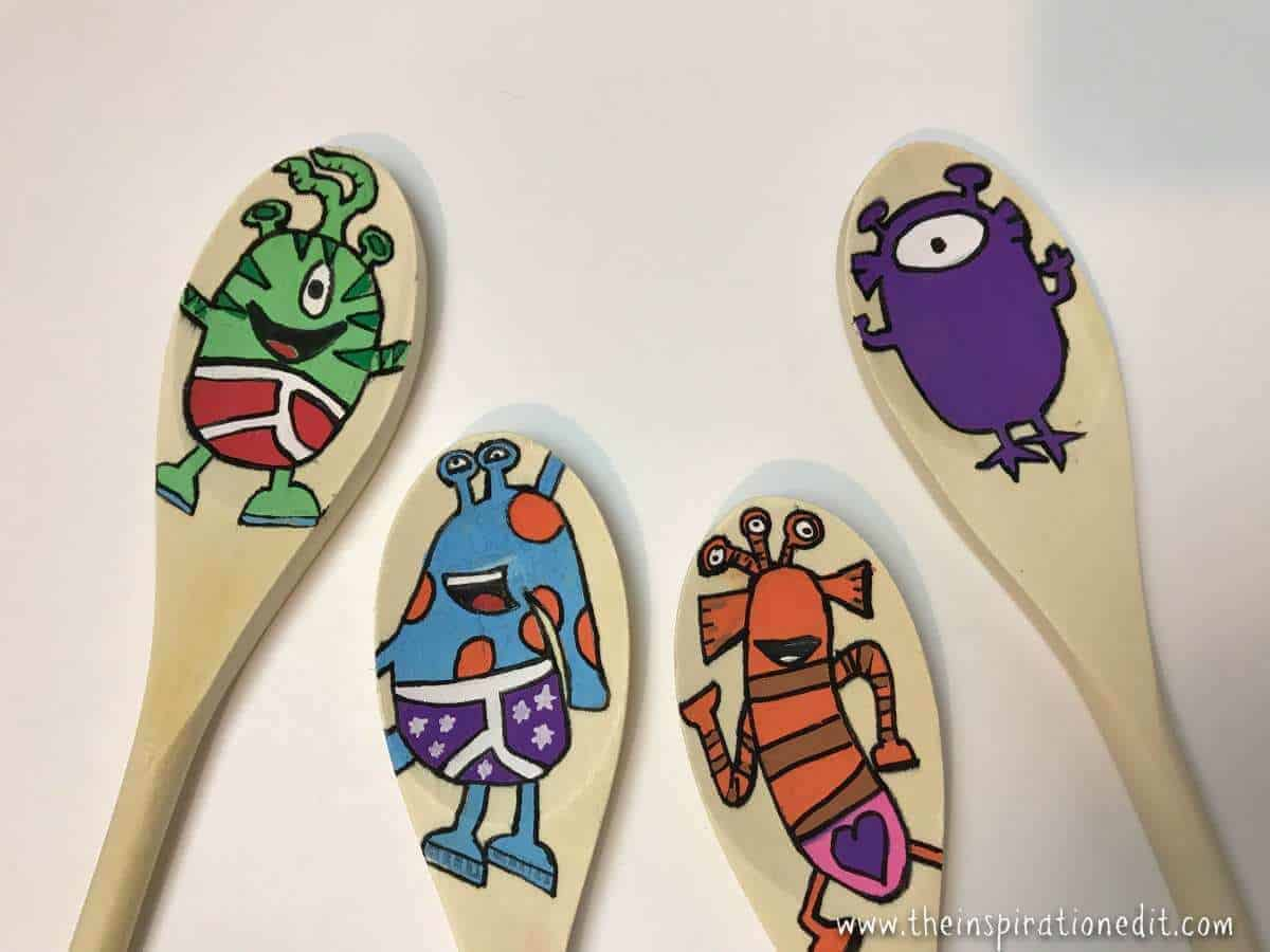 Story Spoons for young children to learn to read