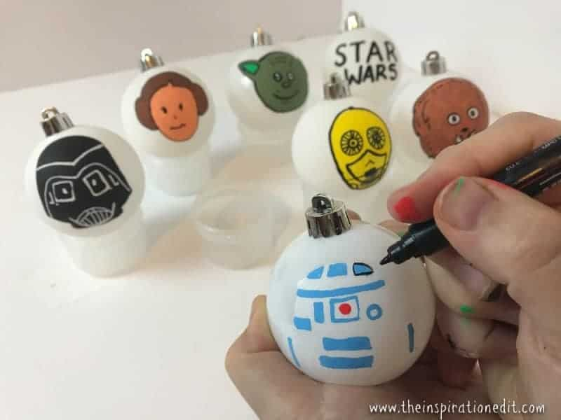 star wars baubles diy decoration idea