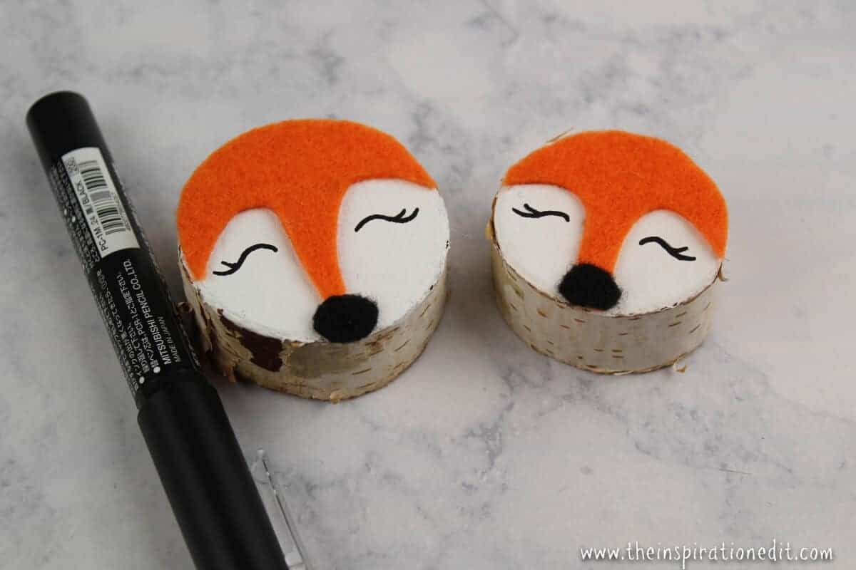 Fox craft wooden Christmas Craft