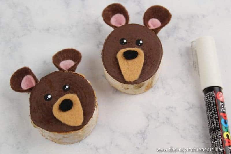 Three Bears Wooden Slice Ornament