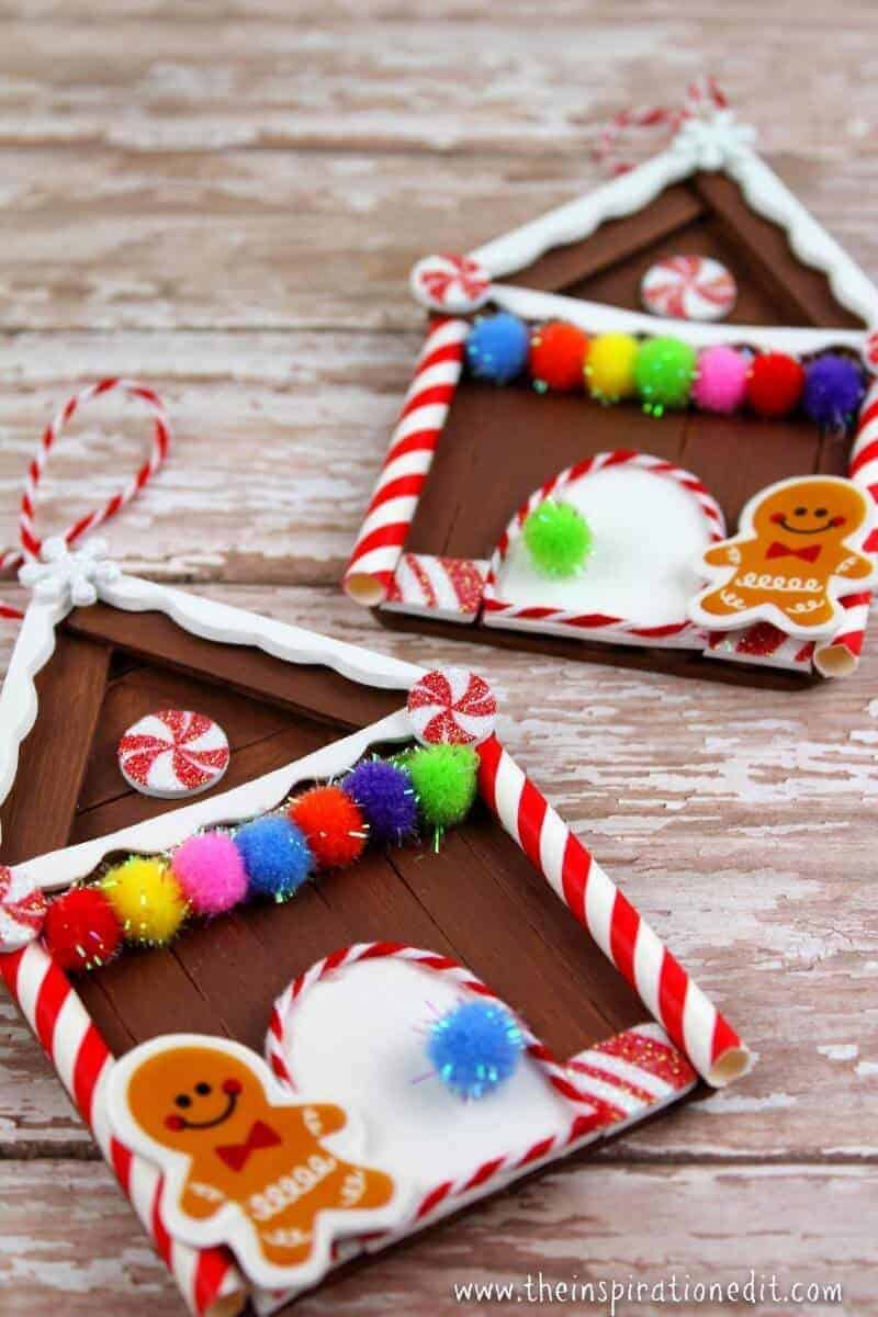gingerbread house craft christmas craft idea