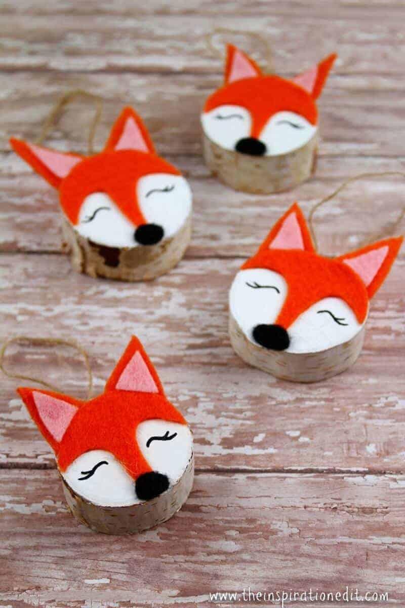 Fox craft wooden Christmas Craft