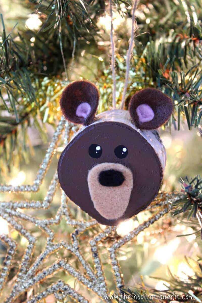 christmas bear ornament