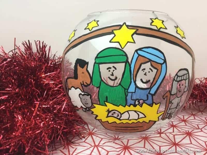 Christmas Nativity Fish Bowl