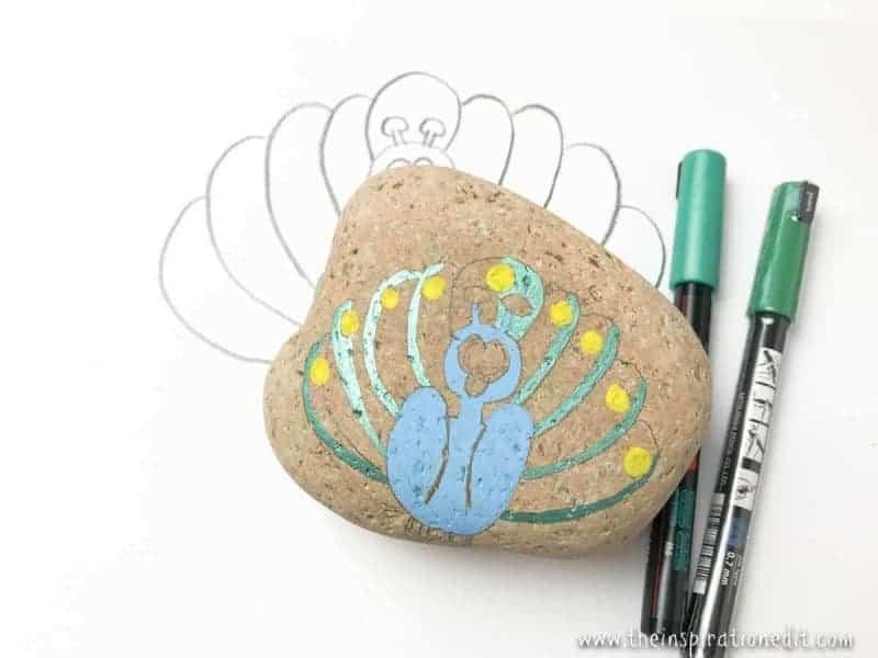 peacock rock stone