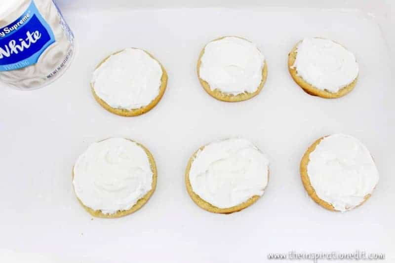 decorating snowman cookies christmas party food idea