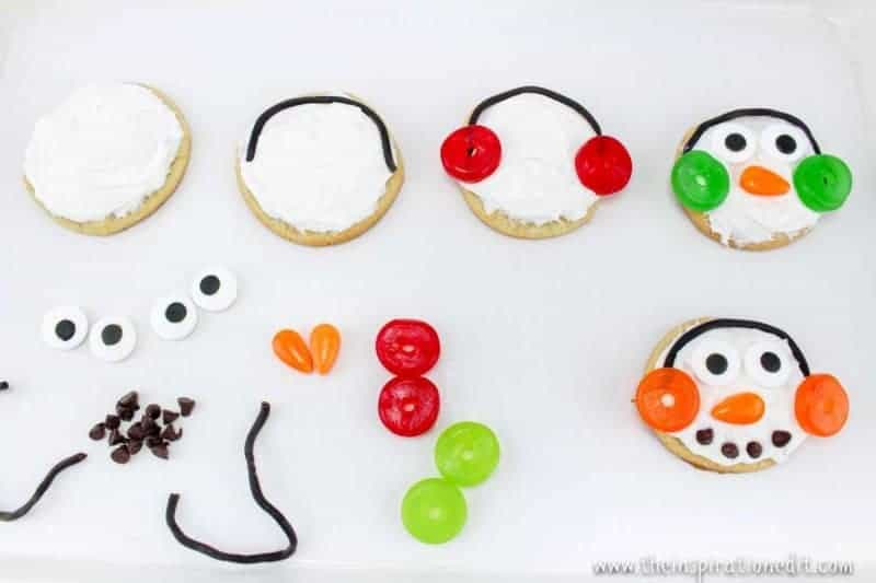 making snowman cookies christmas party food idea