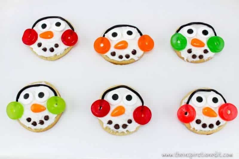 snowman cookies christmas party food idea