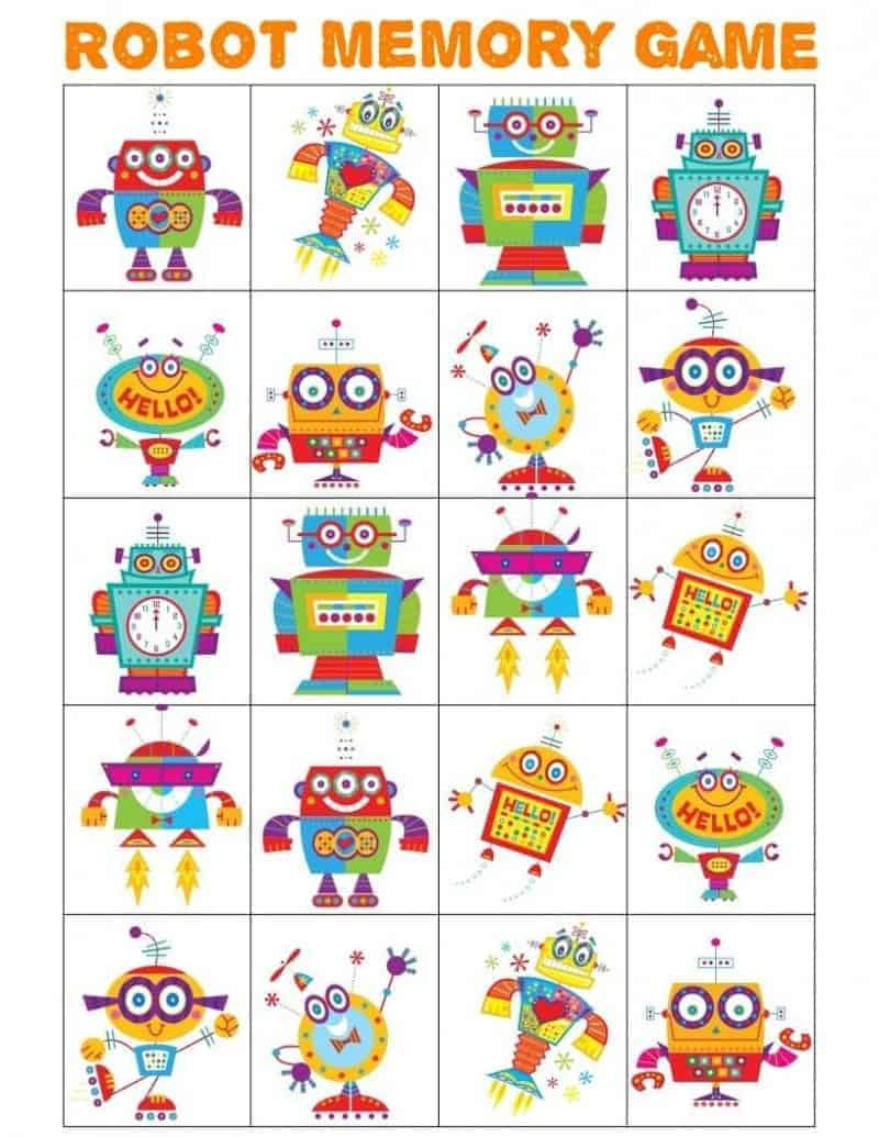 Robot Memory Game image