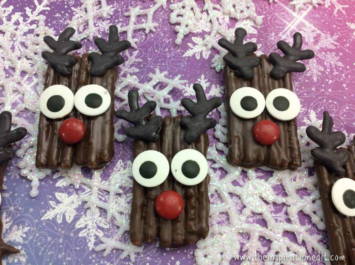 rudolf pretzels christmas party idea