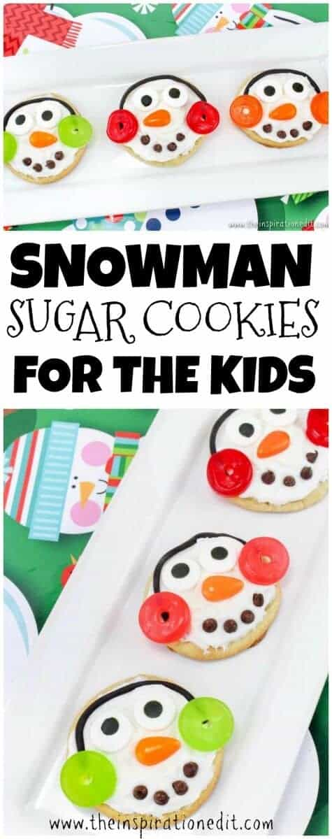 pin snowman sugar cookies