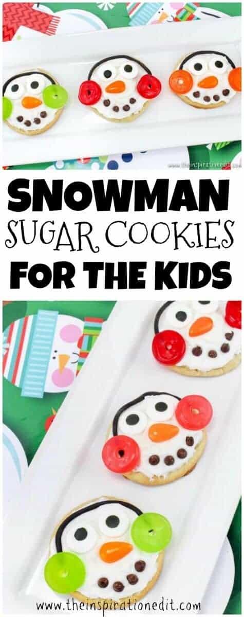 pin snowman sugar cookies