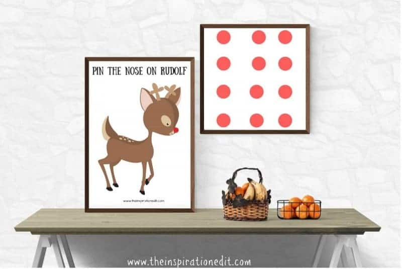 pin the nose on rudolf