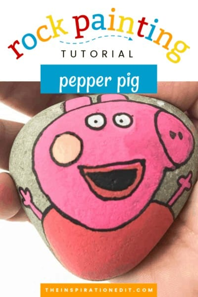 peppa pig painted rock