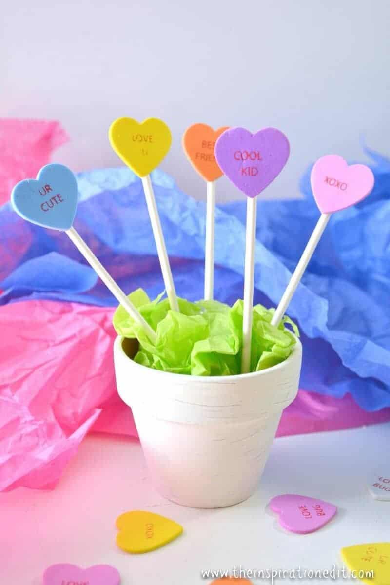 valentines heart planter