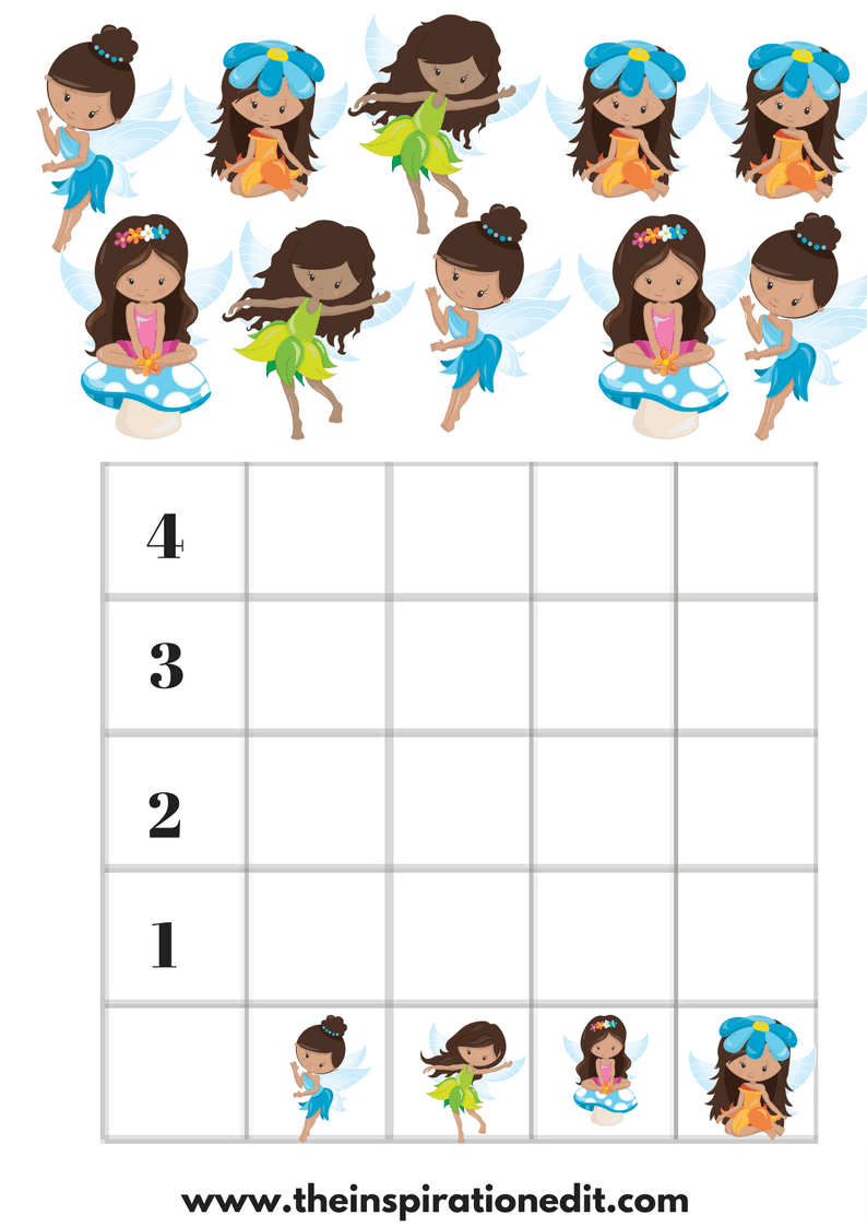 Free Preschool Fairy Graphing Worksheets For Kids · The ...