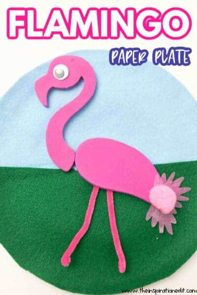 Flamingo paper plate