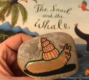 snail and the way painted rock