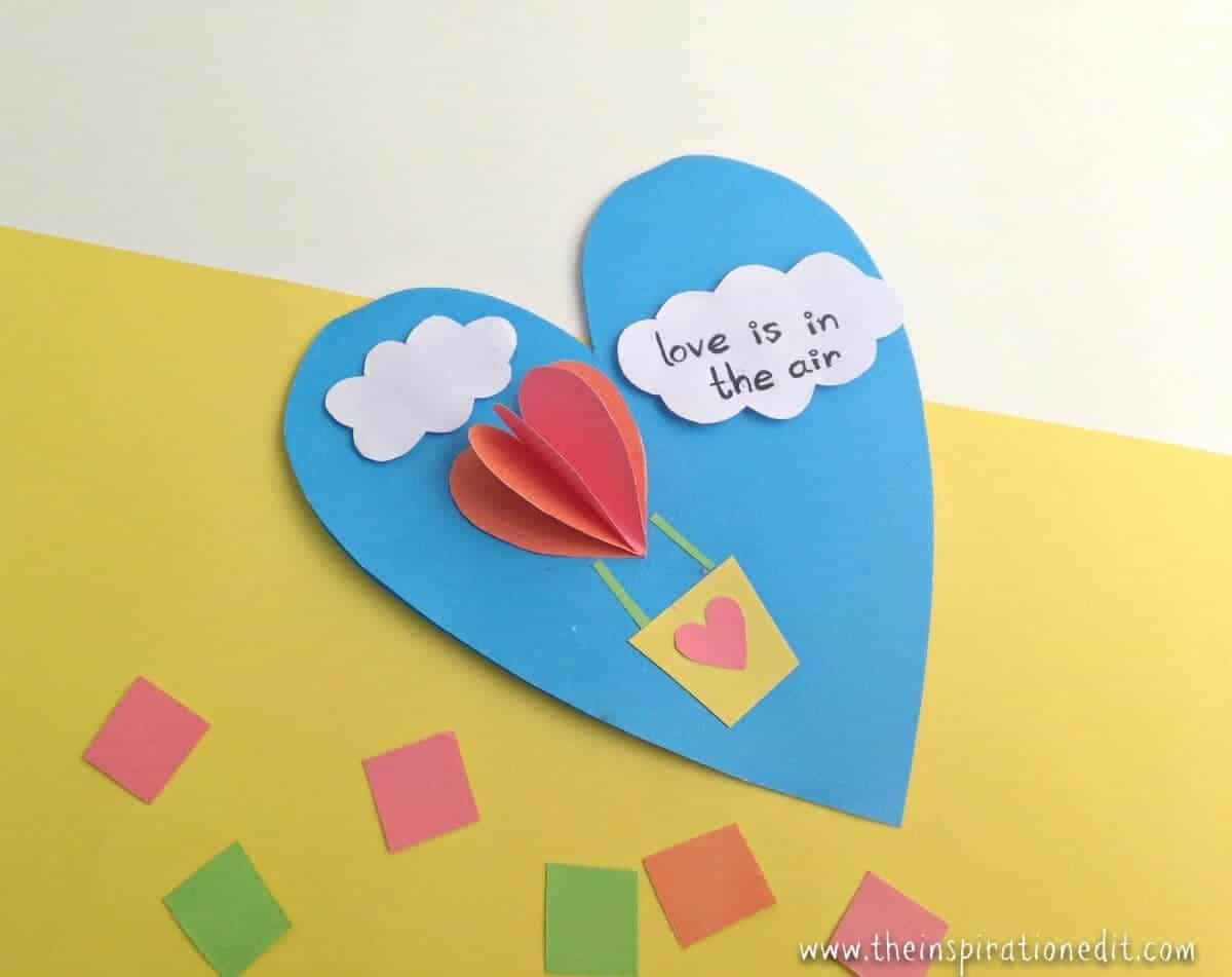 Hot Air Balloon Craft A Valentines Day Kids Craft · The Inspiration Edit
