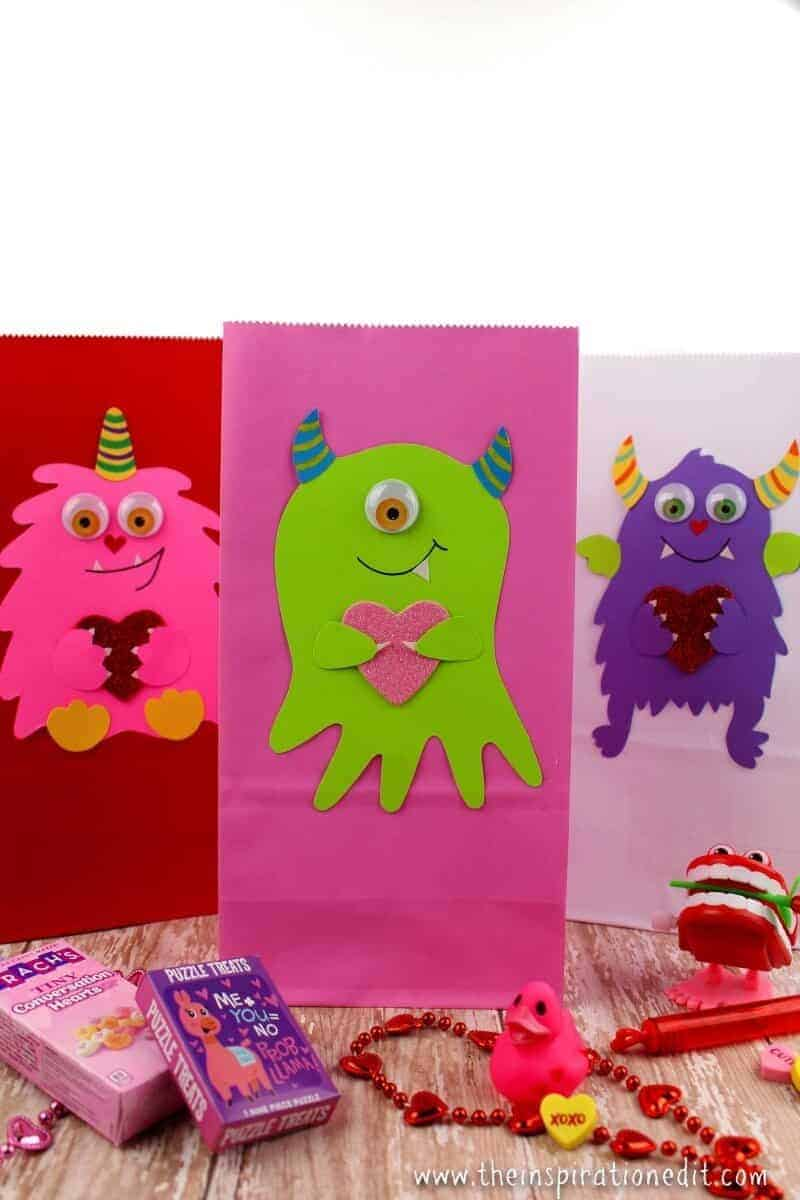 valentines treat bag monster