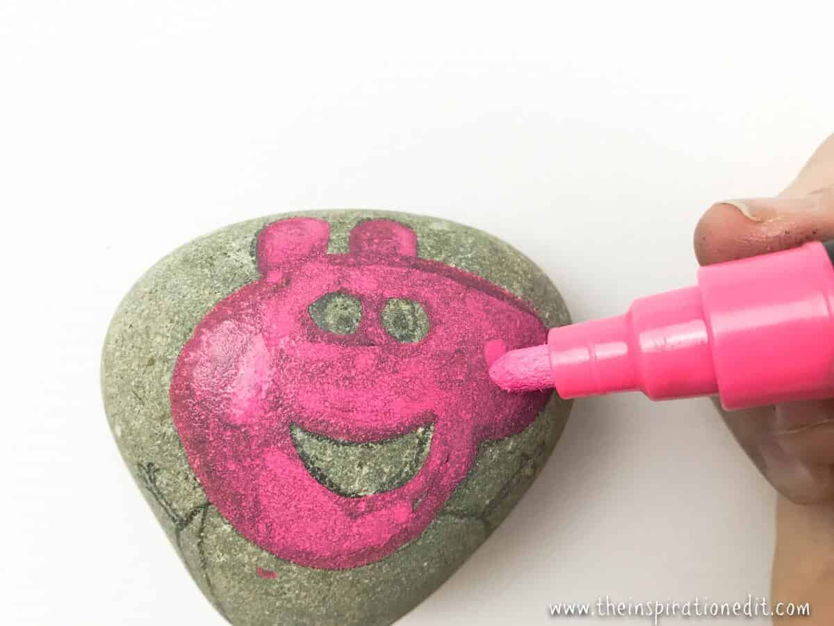 How To Make Painted Rocks Pepper Pig Style The Inspiration Edit