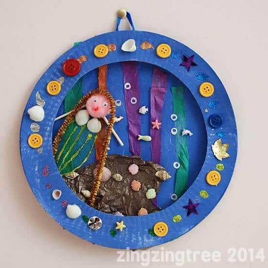 Mermaid-Collage-PAPER PLATE