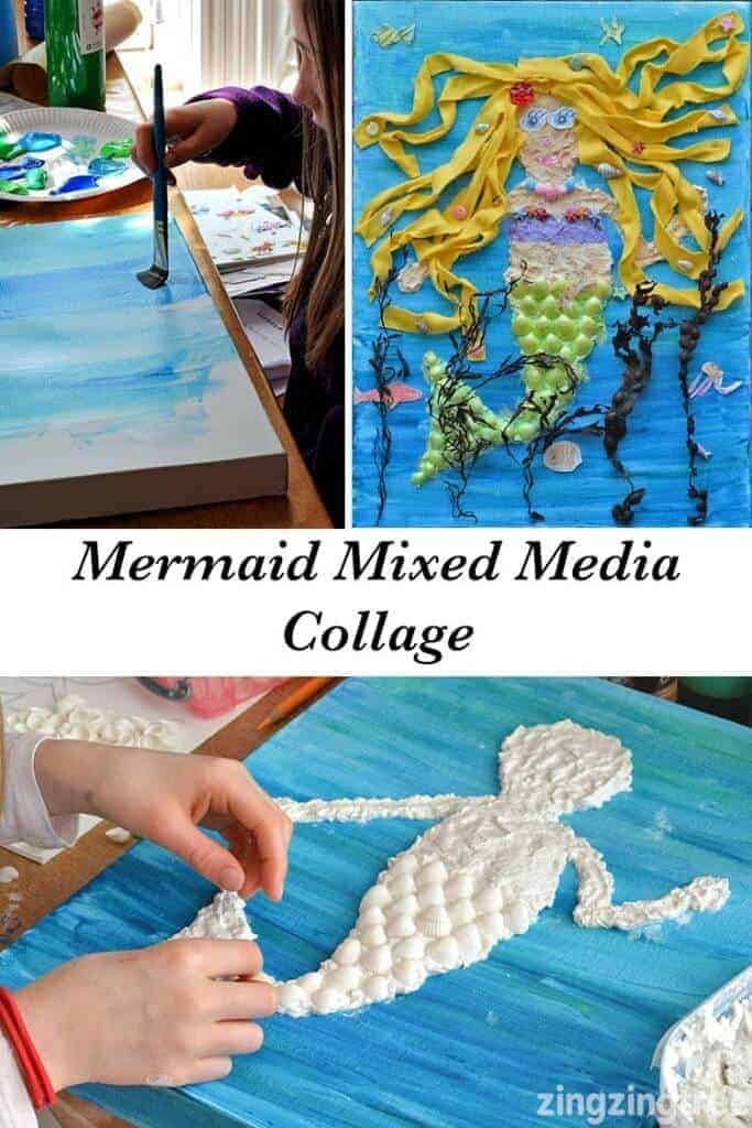 Mermaid-Mixed-Media-Collage-