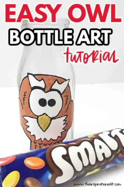 OWL BOTTLE ART