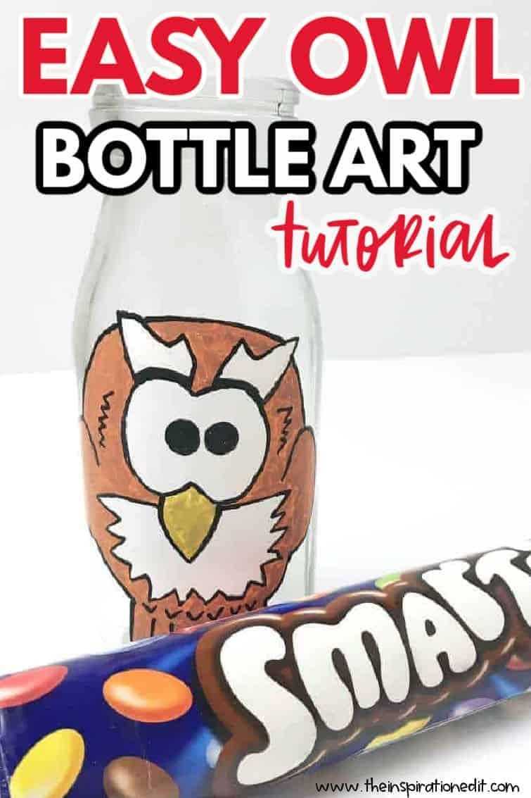 OWL BOTTLE ART