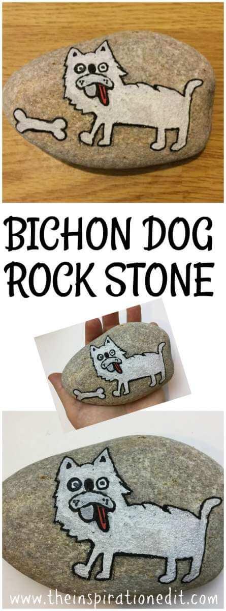 painted rocks dog rock stone art