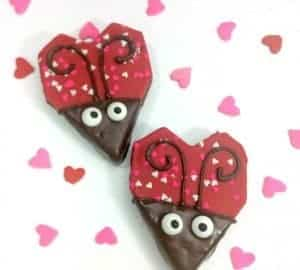 valentines love bug treats