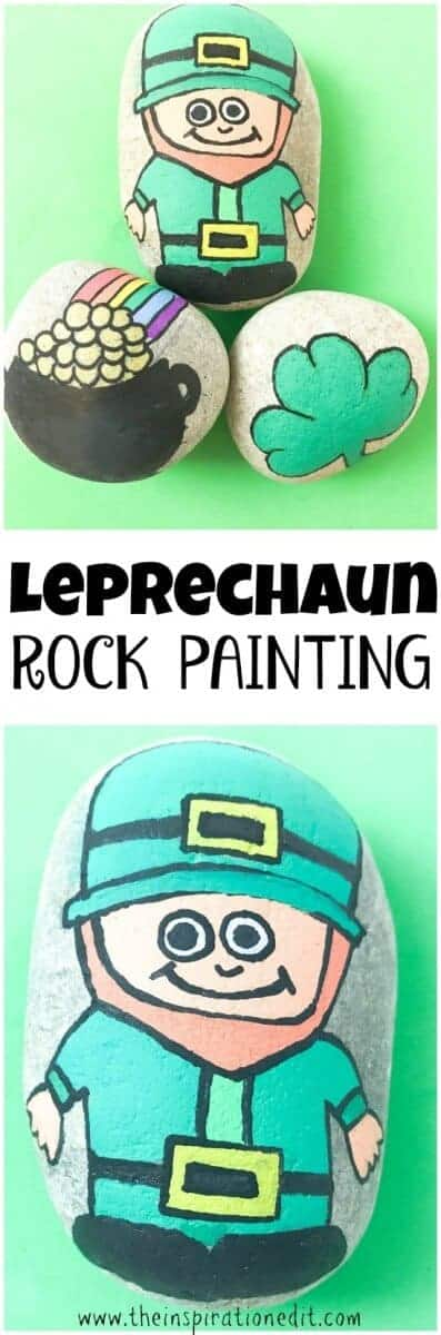 LEPRECHAUN PAINTED ROCK STONE