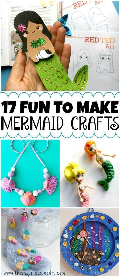 mermaid crafts pin