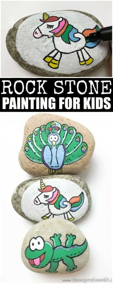 unicorn painted rock