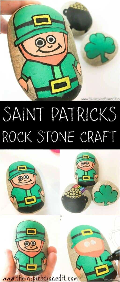 SAINT PATRICKS DAY ROCK STONE