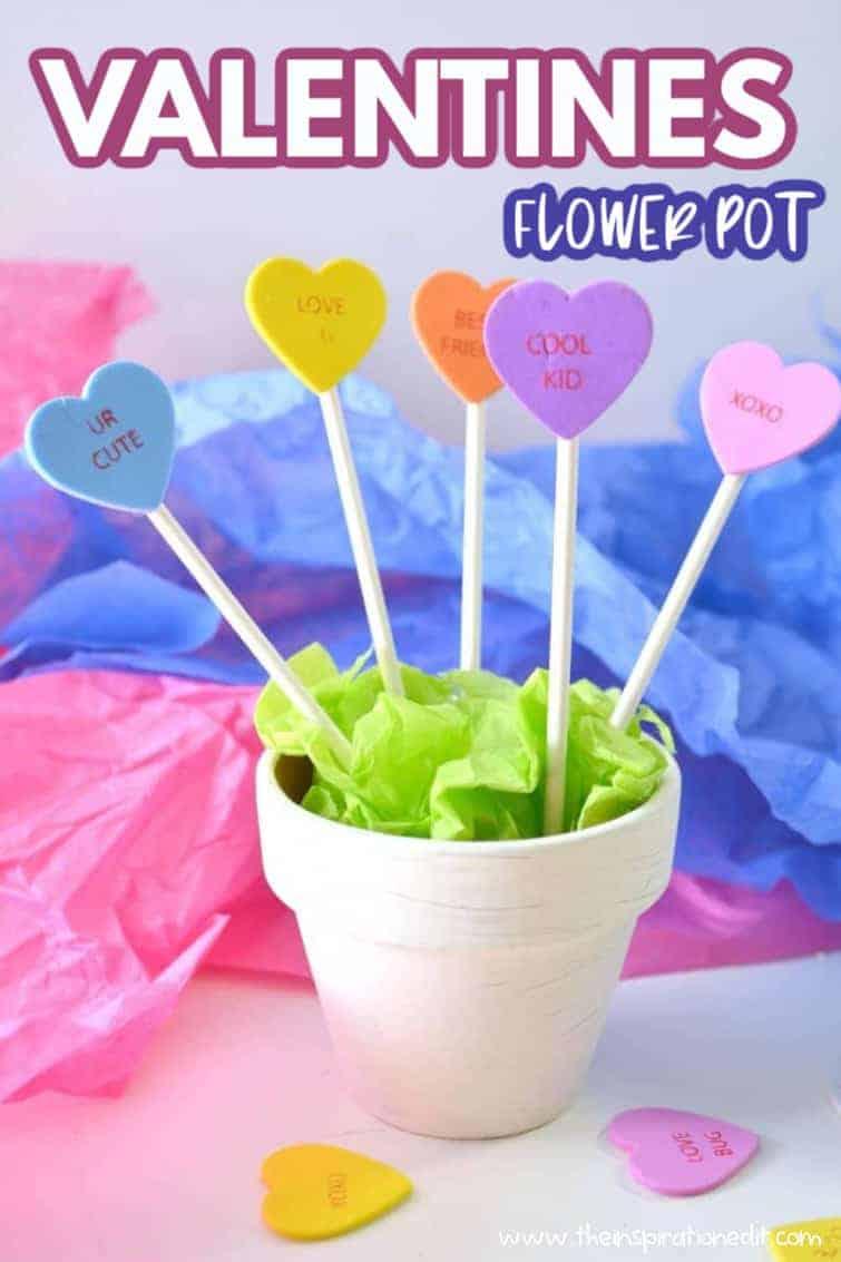 valentines flower pot