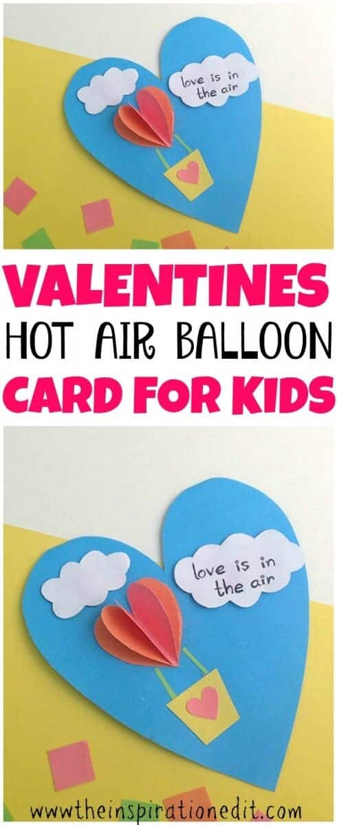 heart air balloon card