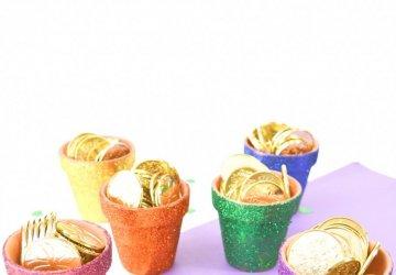 Glitter Rainbow Pots
