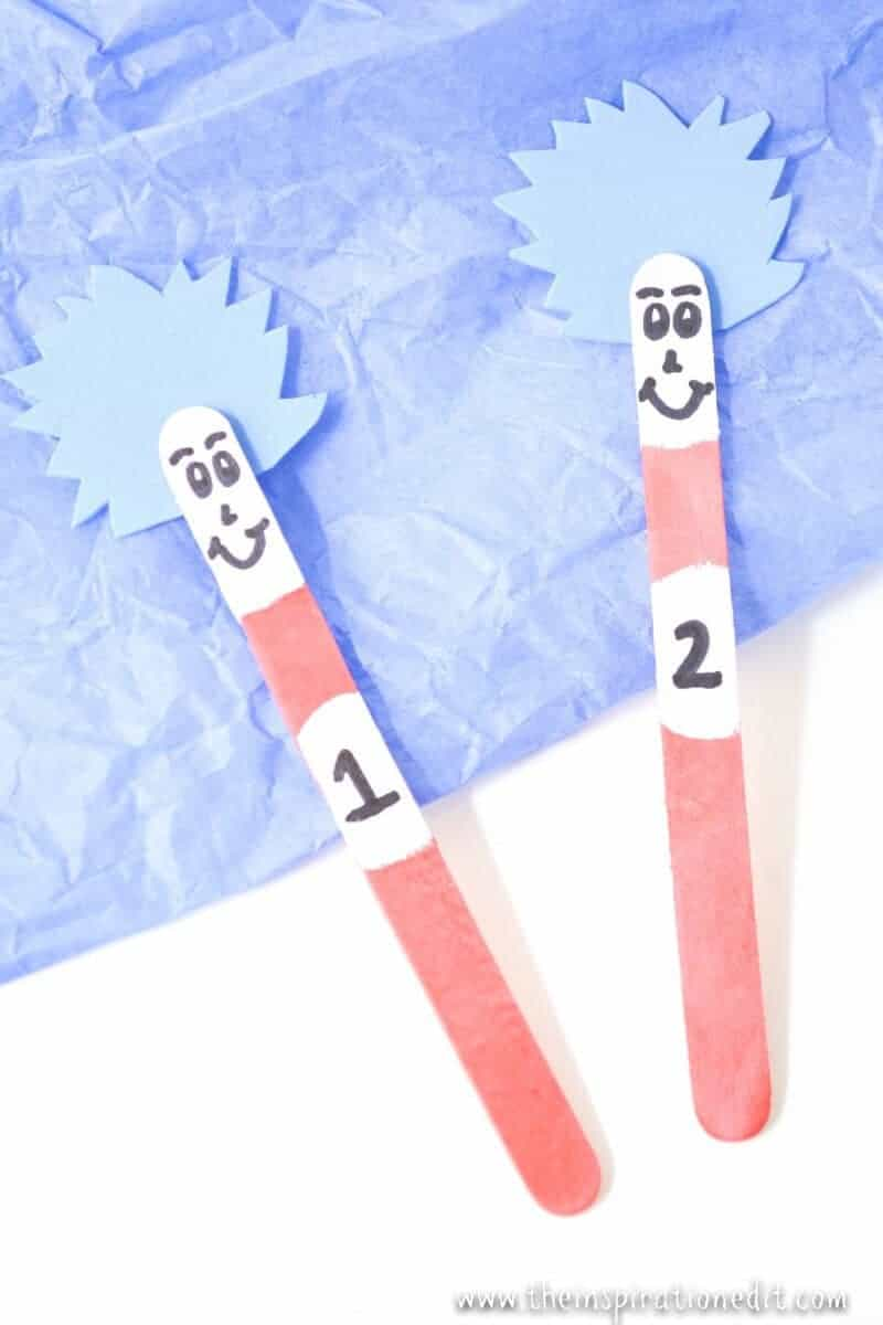 dr seuss stick puppets