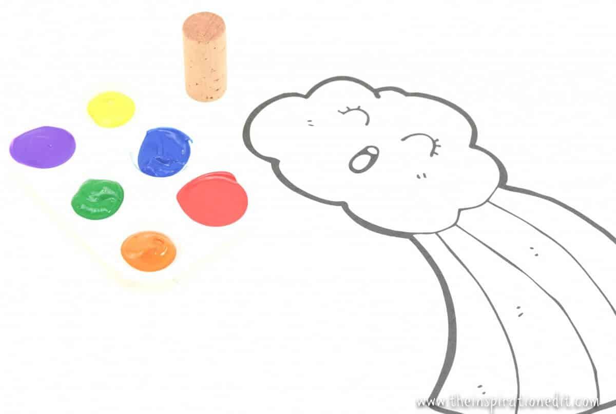 painting rainbows rainbow craft idea