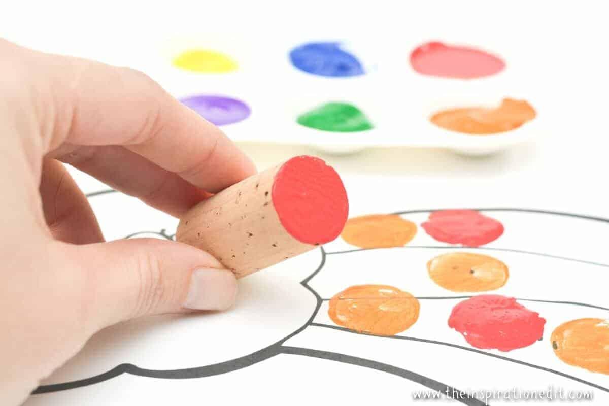 rainbow wine cork craft painting rainbows rainbow craft idea