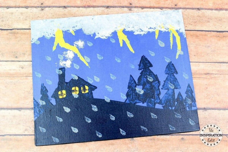 stormy night children's book craft Easy Canvas Painting Ideas For Beginners